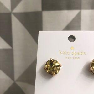 Never worn glitter Kate spade stud earrings